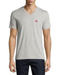 Burberry Brit - Lindon Cotton V-neck T-shirt - Lyst
