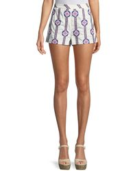 Ramy Brook - Jayde Printed Cotton Shorts - Lyst