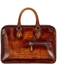 Berluti Scritto Mini Leather Briefcase Lyst