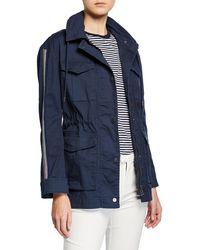 ATM - Cotton Twill Field Jacket With Stowaway Hood - Lyst