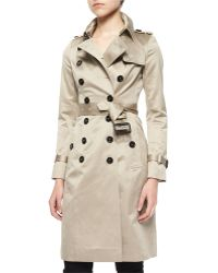 Burberry Prorsum - Sateen Double-breasted Trenchcoat - Lyst