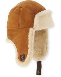 UGG - Shearling Fur Trapper Hat - Lyst