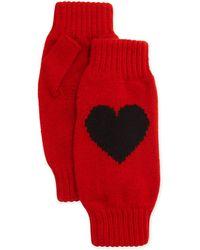 Rosie Sugden - Cashmere Heart Fingerless Gloves - Lyst