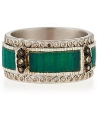 Armenta - New World Mosaic Stack Ring With Diamonds - Lyst