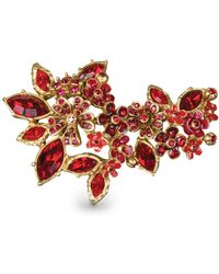 Jay Strongwater - Floral Cluster Pin - Lyst