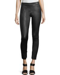 Vince - Leather Zip-cuffs Ankle Leggings - Lyst