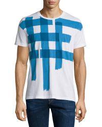 Burberry Brit - Large Check-print Short-sleeve T-shirt - Lyst