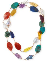 Margo Morrison - Multi-stone & Pearl Hand-knotted Necklace - Lyst