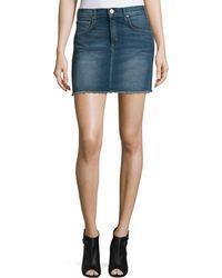 Mcguire   Deconstructed Stretch-Denim Mini Skirt   Lyst