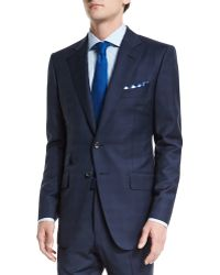 Tom Ford - O'connor Base Mini Prince-of-wales Wool Two-piece Suit - Lyst