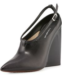 CoSTUME NATIONAL - Pointed-toe Wedge Bootie - Lyst