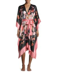 Meng - Scarf Printed Belted Wrap Caftan - Lyst