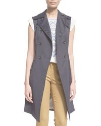 Veronica Beard - Socal Stretch Trench Vest - Lyst