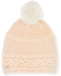 UGG - Cable-knit Beanie W/ Pompom - Lyst