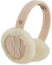 UGG - Wired Cable-knit Crochet Earmuffs - Lyst