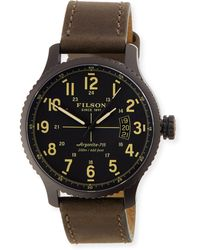 Filson - 42mm Mackinaw Field Watch With Leather Strap - Lyst