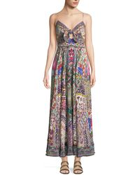 Camilla - Sleeveless Tie-front Printed Coverup Maxi Dress - Lyst
