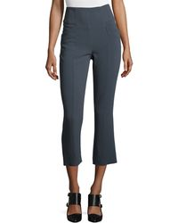 Maiyet - High-waist Boot-cut Cropped Pants - Lyst