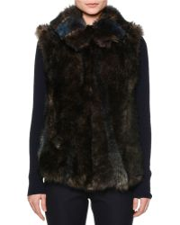 Callens - Intarsia-patch Shearling Fur Vest - Lyst