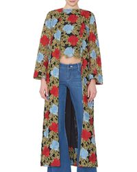 Alice + Olivia - Stara Open-front Floral Lace Caftan - Lyst