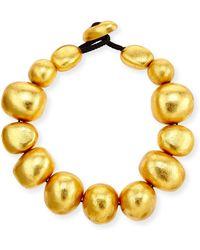 Viktoria Hayman - Freeform Gold Foil Bauble Necklace - Lyst