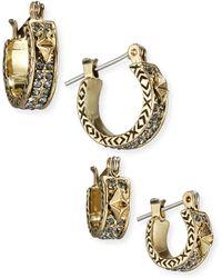 House of Harlow 1960 - Dakota Huggie Hoop Earrings - Lyst