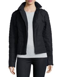 Sorel - Asymmetric Quilted Conquest Carly Moto Jacket - Lyst