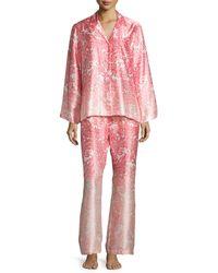 Oscar de la Renta - Printed Ombre Pajama Set - Lyst
