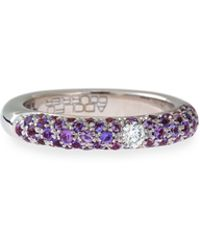 Adolfo Courrier - 18k White Gold & Purple Sapphire Ring With One Diamond - Lyst