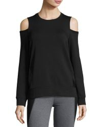 Elie Tahari - Cold Shoulder Terry Sweatshirt - Lyst