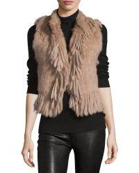 Haute Hippie - Knit Rabbit-fur Vest - Lyst