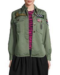 Marc Jacobs - Paradise-appliqué Military Jacket - Lyst