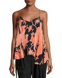 Creatures of the Wind - Bird-print A-line Sleeveless Blouse - Lyst