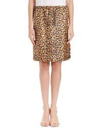 Dries Van Noten | Scotia Leopard & Floral Reversible Silk Skirt | Lyst