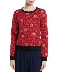 Alice + Olivia - Mary-lou Floral-print Pullover Sweatshirt - Lyst