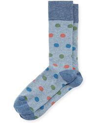 Neiman Marcus - Multicolor Polka-dot Socks - Lyst