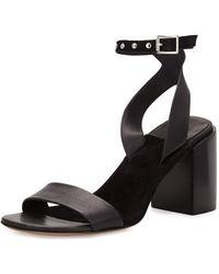 43449fed7c5 Rag   Bone - Gia Leather Chunky-heel Sandal - Lyst