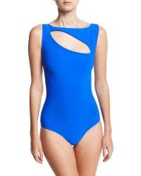 La Petite Robe Di Chiara Boni - Perseide Cutout One-piece Swimsuit - Lyst
