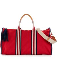 Tory Burch - Embroidered-t Canvas Weekender Bag - Lyst