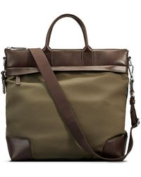 Shinola - Men's Medium Leather & Nylon Travel Tote Bag - Lyst
