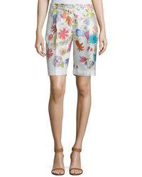 Loro Piana - Larrie Printed Silk Bermuda Shorts - Lyst
