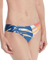 Trina Turk - Banana Leaf Shirred Hipster Swim Bottoms - Lyst