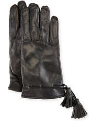 Imoni - Leather Tassel Gloves - Lyst
