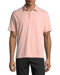 Vince - Men's Garment-dyed Short-sleeve Polo Shirt - Lyst