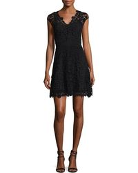 Shoshanna - Buchanan Lace V-neck Mini Dress - Lyst