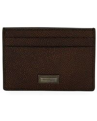 Ferragamo - Men's Ten Forty One Leather Card Case - Lyst