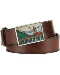 DSquared² - Canadian Country Leather Belt - Lyst