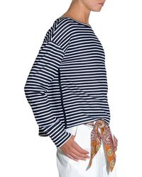 Eleventy | Striped Jersey Long-sleeve T-shirt | Lyst