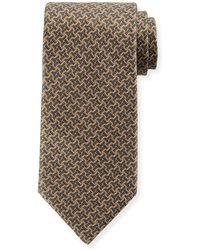 Brioni - Basketweave Silk Tie - Lyst