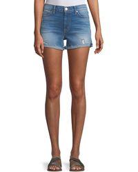 Hudson Jeans - Valeri Cuffed Denim Shorts - Lyst
